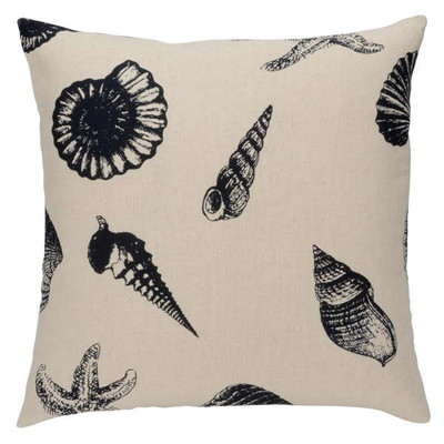 Seashell Nautical Beach shore throw pillow cushion Set of 2