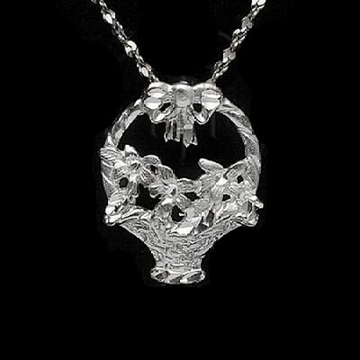 Sterling Silver DiamondCut Flower Charms - Various Styles