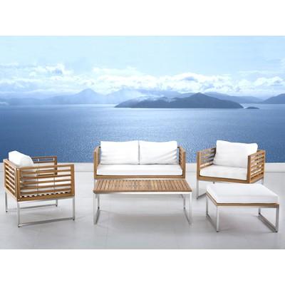 Garden Furniture Set - Stainless Steel - Teak -  BERMUDA