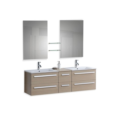 Modern Bathroom Vanity with Sink, Cabinets and Mirrors   -  MADRID