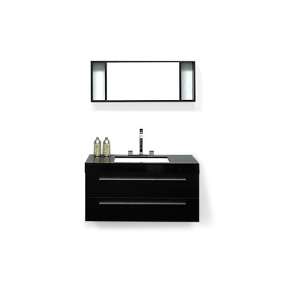 Modern Bathroom Vanity with Sink and Mirror - BARCELONA