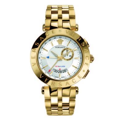 Versace Men's 29G70D001 S070 'V-Race' Stainless Steel Watch