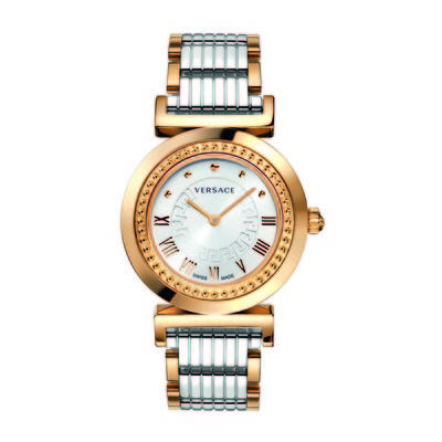 Versace Women's P5Q80D499 S089 'Vanity' Rose Gold Ion-Plated Stainless Steel Watch