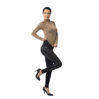 Leather Spike Leggings with Built-in Shapewear