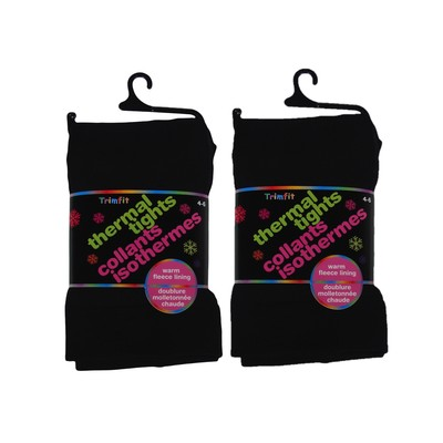 2 Pais of Thermal Fleece Lined Tights