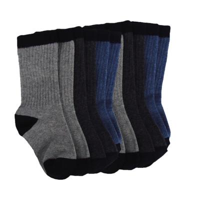 6 Pairs of Rib Crew Socks