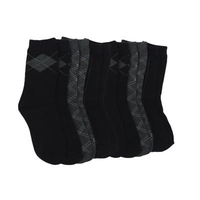 6 Pairs of Dress Pattern Crew Socks