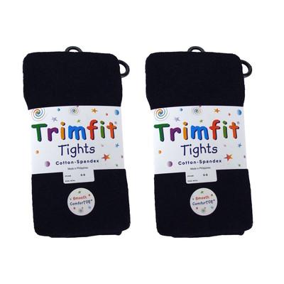 2 Pairs of Flat Knit Tights-Navy