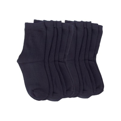 6 Pairs of Wide Rib Crew Socks-Navy