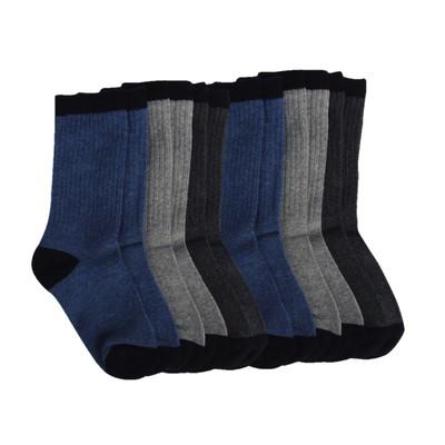 6 Pairs of Rib Crew Socks Boys