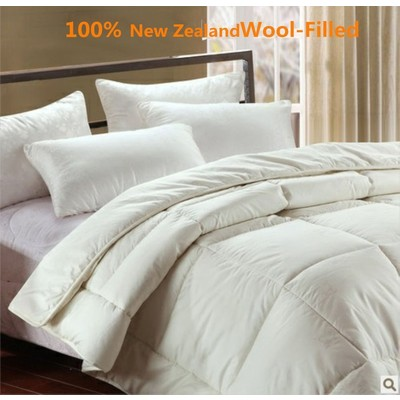 Luxury Machine Washable New Zealand Wool Duvet or Comforter king size