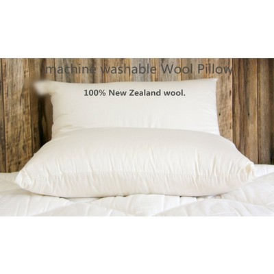 Luxury Machine Washable New Zealand Wool Pillow 1pair (2 Pieces)
