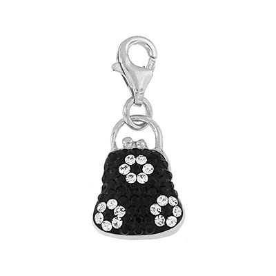 Silver & Crystal Charm- Purse