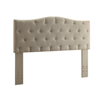Double/Queen convertible Tufted Linen Upholstered Headboard Only - Natural Linen