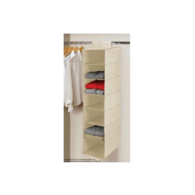 Beige Seven Tier Hanging Shelf