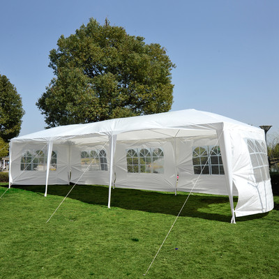 10' x 30' Gazebo Party Tent with 5 Removable Walls White