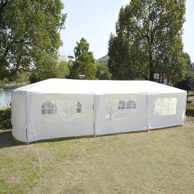 10' x 30' Gazebo Canopy Wedding Party Tent  With 8 Removable Sidewalls White