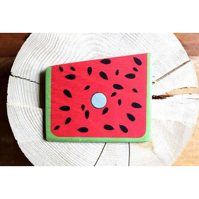 Watermelon Wedge Wooden Pocket Square