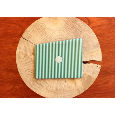 Lucite Green and Treetop Stripes Wooden Pocket Square