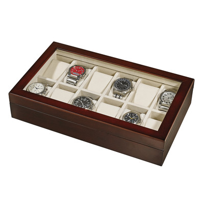 WOODEN WATCH COLLECTOR BOX (for 12 watches)