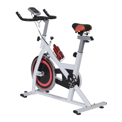 Indoor Cycling Exercise Bike Fitness Cardio Workout Aerobic Machine With LCD Monitor