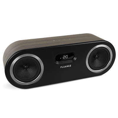 Fluance Fi50B Two-Way High Performance Wireless Bluetooth Premium Wood Speaker System with aptX Enhanced Audio (Natural Walnut) (061783262498)