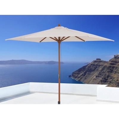 Wooden Market Umbrella without flaps - MERCATO off-white