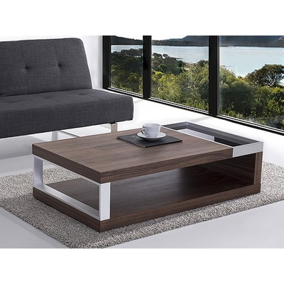 Coffee Table - Walnut - Aluminum Frame 120 x 70 cm - FARO