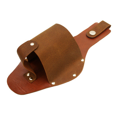Rustic Leather Bottle Holster, Brown
