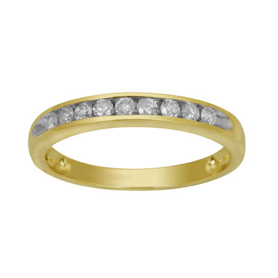 10kt Yellow Gold Channel Anniversary with Round Diamonds