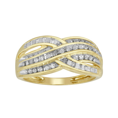 10kt Yellow Gold Diamond Bypass Ring