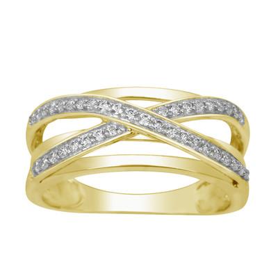 10kt Yellow Gold Diamond 'X' Band