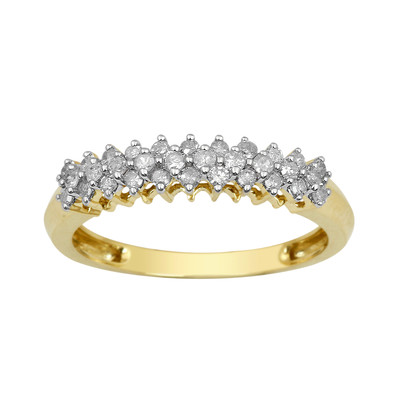 10kt Yellow Gold Diamond Cluster Anniversary Band