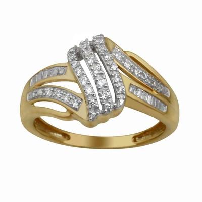 10kt Yellow Gold Diamond Swirl Ring
