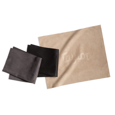 Taylor Polish Cloth - Black/Taupe/Charcoal, 3-Pack - Taylor Guitars - Accessories and Parts - 80909