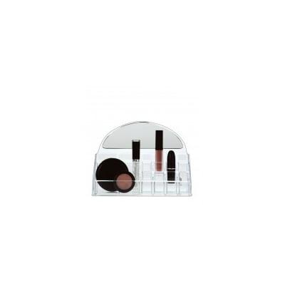 Acrylic Organizer - Half Moon Mirror