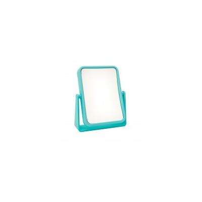 Soft Touch Rectangular Mirror - Blue