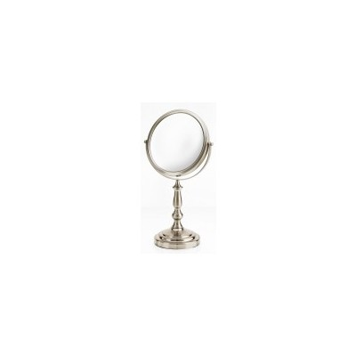 Satin Nickel Elegant Stemmed Vanity Mirror