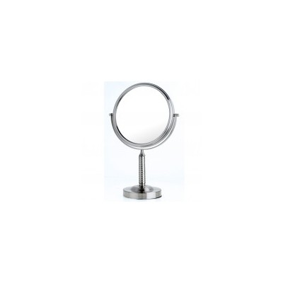 Nickel Ribbed Stem Vanity Mirror