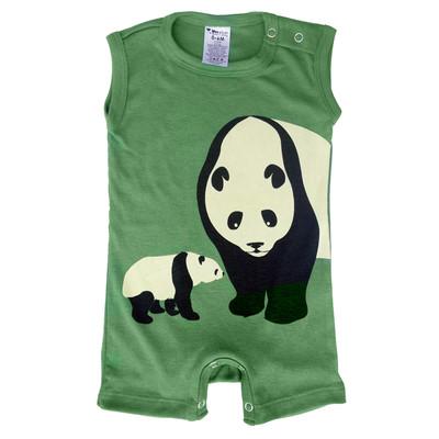 Baby Romper -  Green Panda