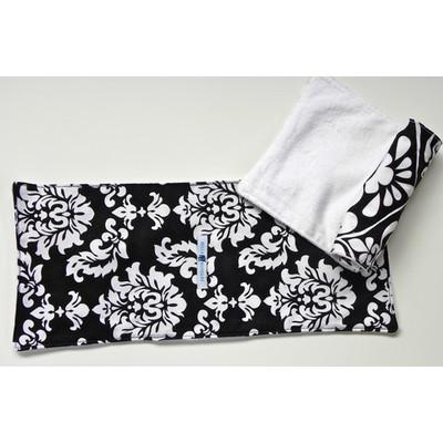 Black Damask Burp Cloths (QTY 3 SETS PER ORDER)