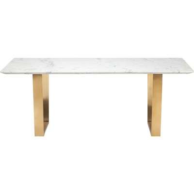 """White Marble Catrine Dining Table 78 3/4""""x 39 1/2"""""""