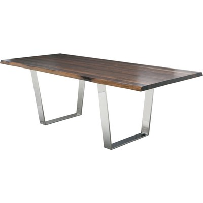 """Seared Oak Versailles Dining Table 40"""" x 78"""""""