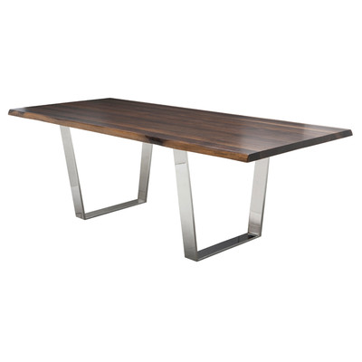 """Seared Oak Versailles Dining Table 44"""" x 112"""""""