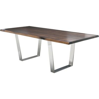 "Grey Oxidized Oak Versailles Dining Table 40"" x 96"""