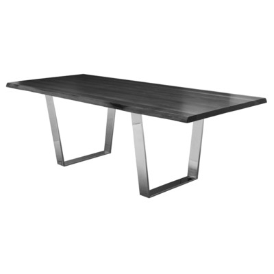 "Grey Oxidized Oak Versailles Dining Table 44"" x 112"""