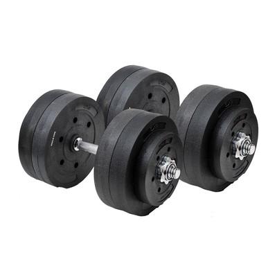 110lb Adjustable Dumbbell Set Black