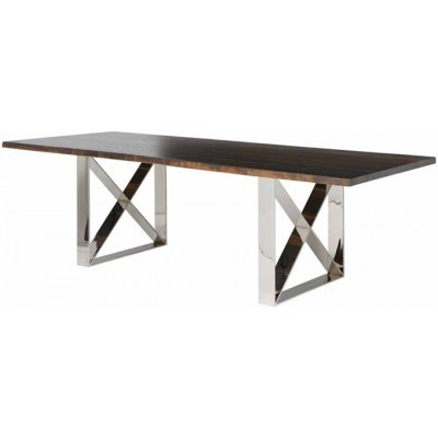 "Seared Oak Aix Dining Table 40""x78"""