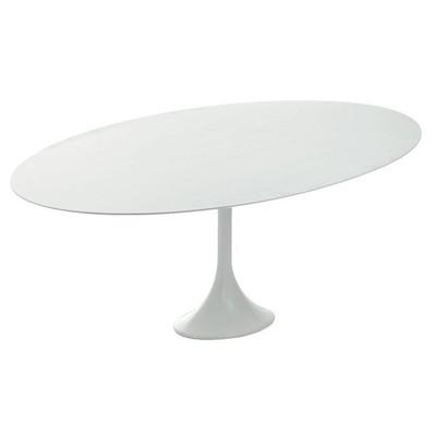 Echo Oak Dining Table in White