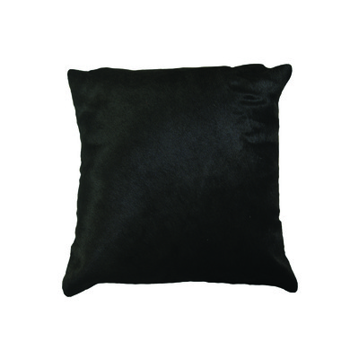 "Torino Cowhide Pillow 18"" X 18"" Black"